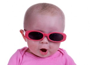 cool baby in sunglasses