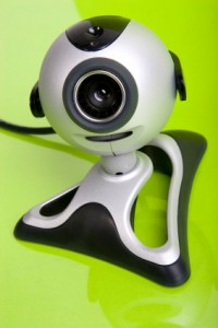silver webcam
