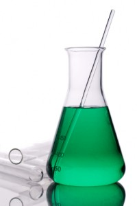Erlenmeyer flask and test tubes